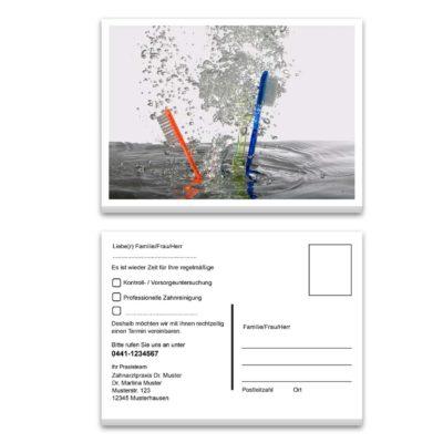 Recallkarte zahnbuersten