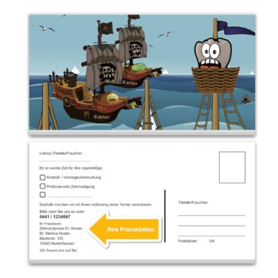 recallkarte pirate din lang