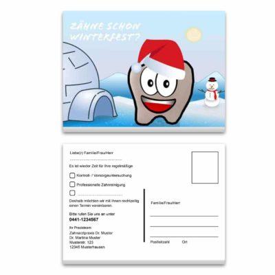 recallkarte weihnachtlszeit