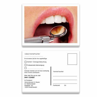 recallkarte mundspiegel kontrolle