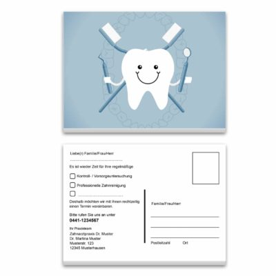 recallkarte zahn