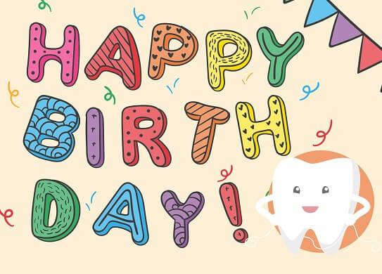 Buchstaben Geburtstagskarte