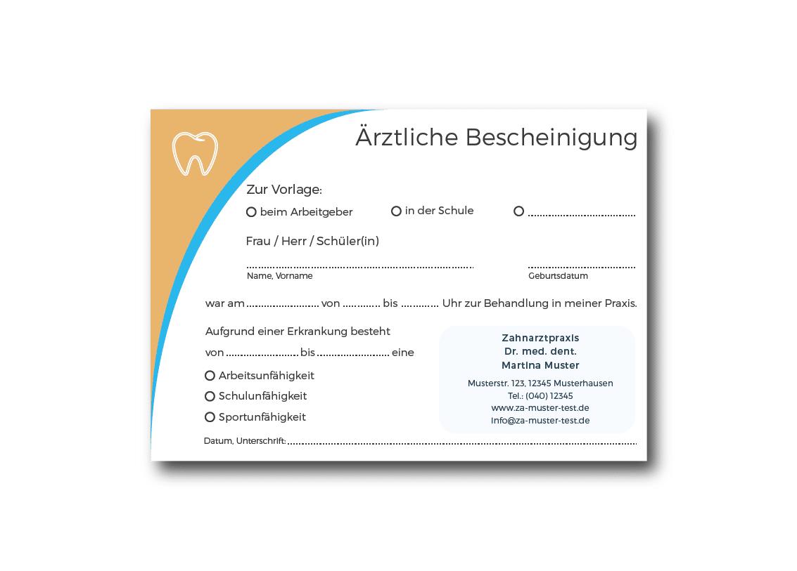 Zahnarzt-Bescheinigungen - praxisdesign.works