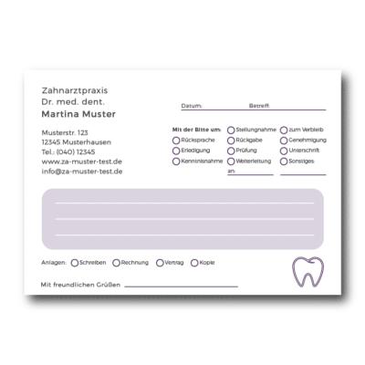 Kurzmitteilung violett 01