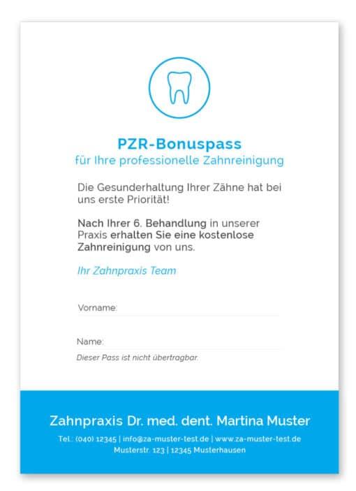 PZR Bonuspass blau