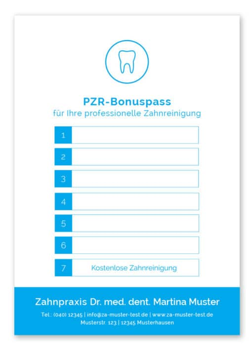 PZR Bonuspass blau rückseite