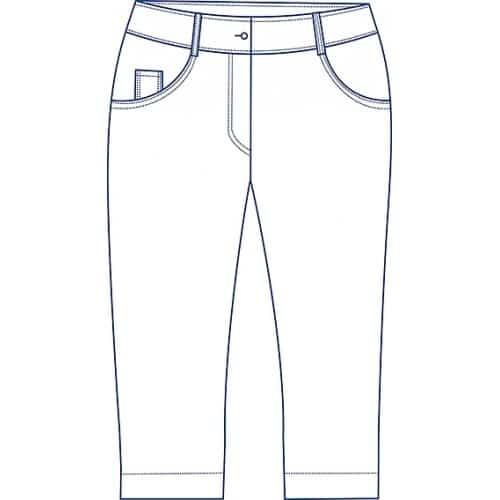 78 Damenhose Five Pocket Stretch 7160 0 1