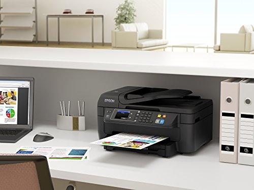Epson WorkForce WF 2660DWF 4 in 1 Multifunktionsdrucker Drucken scannen kopieren faxen Duplex WiFi Dokumenteneinzug schwarz 0 5