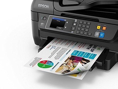 Epson WorkForce WF 2660DWF 4 in 1 Multifunktionsdrucker Drucken scannen kopieren faxen Duplex WiFi Dokumenteneinzug schwarz 0 6