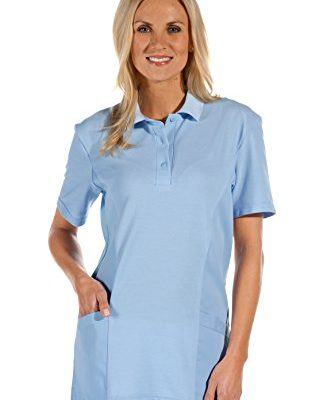 clinicfashion Polo Schlupfhemd hellblau fr Damen Mischgewebe Gre XS XXXL 0