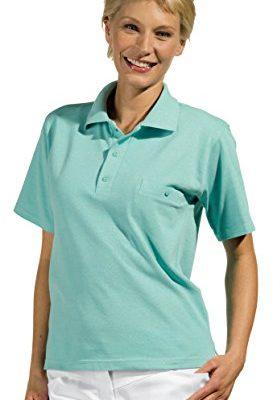 clinicfashion Polo Shirt Unisex fr Damen und Herren mint Brusttasche Mischgewebe Gre XS XXXL 0