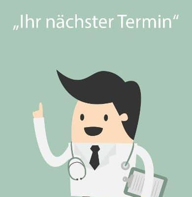 Arzt erinnert an Termin