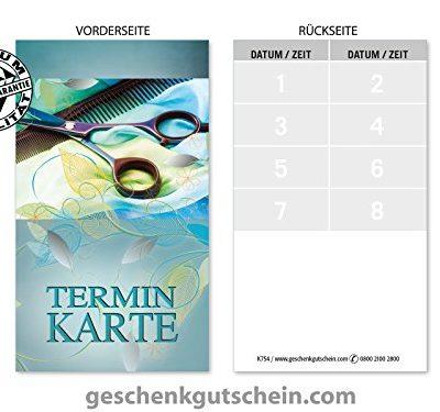 100 Stk Terminkarten fr Friseure Coiffeure Haardesign Hairstyling K754 0