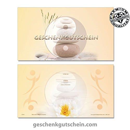 50 Stk Geschenk Gutscheine MA1233 fr Massage Physiotherapie Spa und Wellness 0