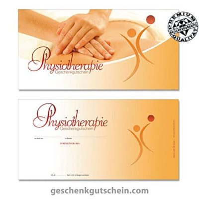 50 Stk Geschenkgutscheine DIN lang fr Physiotherapie MA9242 0