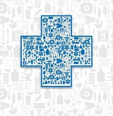 Medizin Ikonen auf Terminkarte