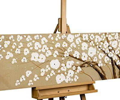 KunstLoft Acryl Gemlde Baum des Vertrauens 120x40cm original handgemalte Leinwand Bilder XXL Baum Blten Wei Natur Ast Wandbild Acrylbild moderne Kunst einteilig mit Rahmen 0