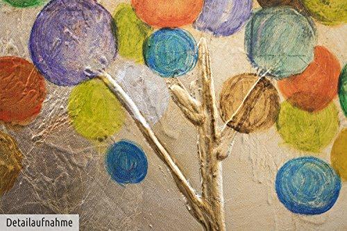 Kunstloft acryl gem lde 39 buntes herbstlaub 39 150x50cm original handgemalte leinwand bilder xxl - Handgemalte bilder auf leinwand ...