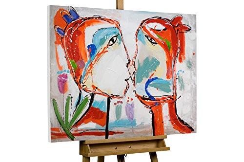 KunstLoft® Acryl Gemälde U201aEin Bund Fürs Lebenu0027 100x75cm | Original  Handgemalte Leinwand Bilder XXL | Picasso Paar Liebe Ehe Gesicht Abstrakt  Deko Bunt Rot ...