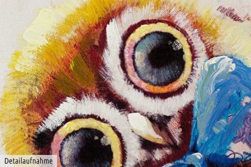 Kunstloft acryl gem lde 39 im mittelpunkt 39 150x50cm handgemalte leinwand bilder xxl tiere - Handgemalte bilder auf leinwand ...