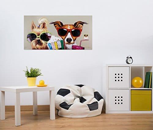 KunstLoft® Acryl Gemälde \'Kiki, Jack und Matt\' 120x60cm | original ...