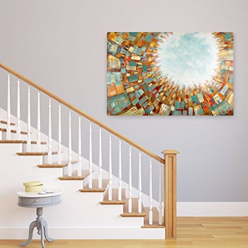 kunstloft acryl gem lde 39 light from above 39 150x100cm. Black Bedroom Furniture Sets. Home Design Ideas