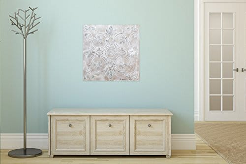 kunstloft acryl gem lde 39 prunkvoll 39 80x80cm original handgemalte leinwand bilder xxl. Black Bedroom Furniture Sets. Home Design Ideas