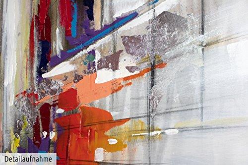 kunstloft acryl gemlde realittsverlust 100x100cm handgemalte leinwand bilder xxl bunte grostadt. Black Bedroom Furniture Sets. Home Design Ideas
