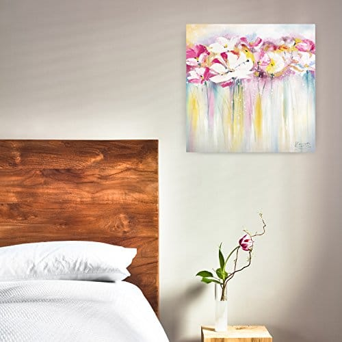 kunstloft acryl gem lde 39 rose scented summertime 39 80x80cm original handgemalte leinwand. Black Bedroom Furniture Sets. Home Design Ideas