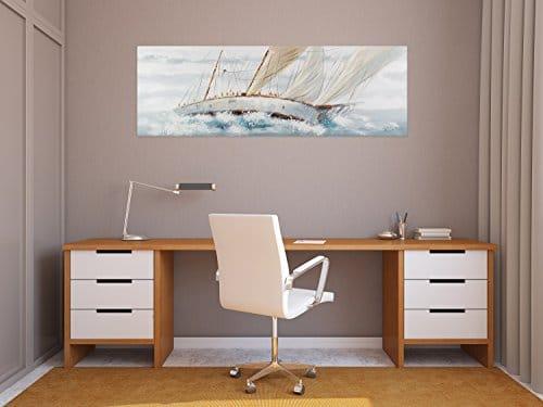 kunstloft acryl gem lde 39 ruf des abenteuers 39 150x50cm. Black Bedroom Furniture Sets. Home Design Ideas
