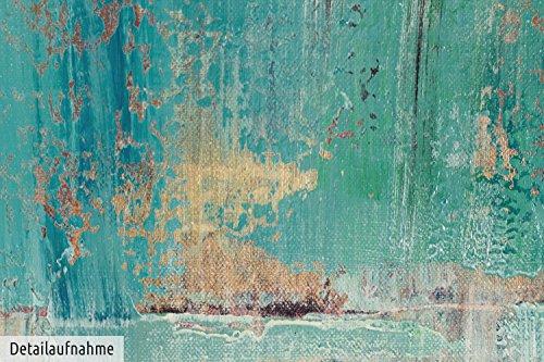 Kunstloft acryl gemlde tiefenentspannung 90x120cm original handgemalte leinwand bilder xxl - Wandbild petrol ...