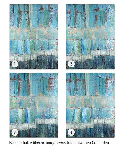 Kunstloft acryl gem lde 39 tiefenentspannung 39 80x120cm - Wandbild petrol ...