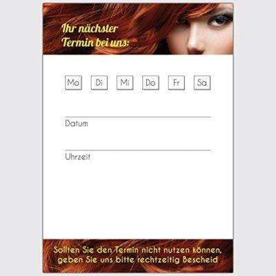 Terminkarten Friseur Kastanienbraun Format DIN A7 hoch 250 Stck 0