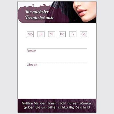 Terminkarten Friseur Lila Format DIN A7 hoch 250 Stck 0