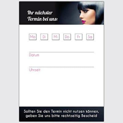 Terminkarten Friseur Nachtblau Format DIN A7 hoch 250 Stck 0