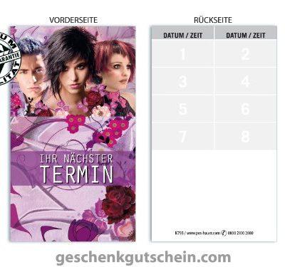 Terminkarten K793 fr Friseursalon Haarstudio Coiffeur und Hairstyling 0