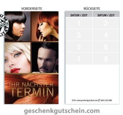 Terminkarten K798 fr Friseursalon Haarstudio Coiffeur und Hairstyling 0