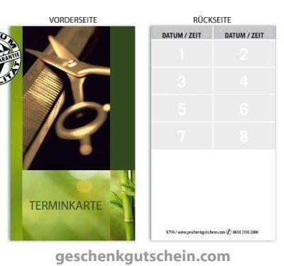 Terminkarten K799 fr Friseursalon Haarstudio Coiffeur und Hairstyling 0