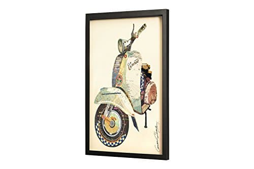 trendiges kunstloft bild frame art 3d 39 weltenbummler 39 61x81cm handgefertigte vintage wanddeko. Black Bedroom Furniture Sets. Home Design Ideas