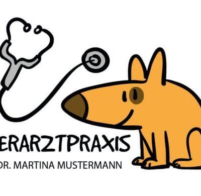 Comic Hund Visitenkarte Tierarzt