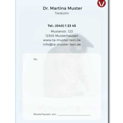 rezeptblock tierarzt blau individuell