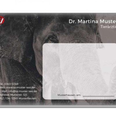 rezeptblock tierarzt elefant individuell