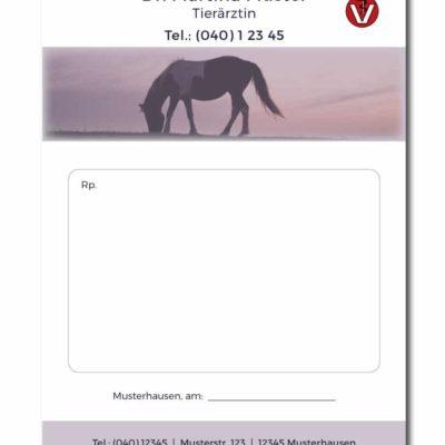rezeptblock tierarzt horse individuell