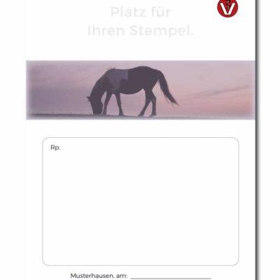 rezeptblock tierarzt horse standard