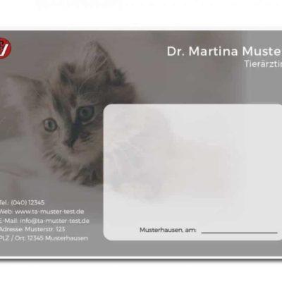 rezeptblock tierarzt katzenbaby individuell