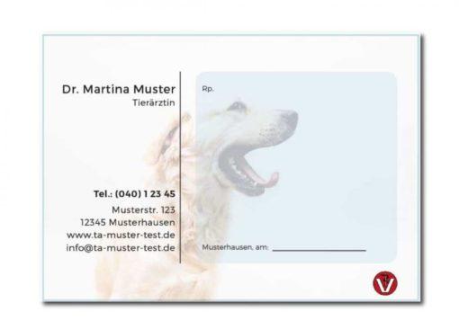 rezeptblock tierarzt labrador individuell