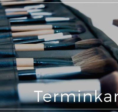 terminkarte kosmetik brushes