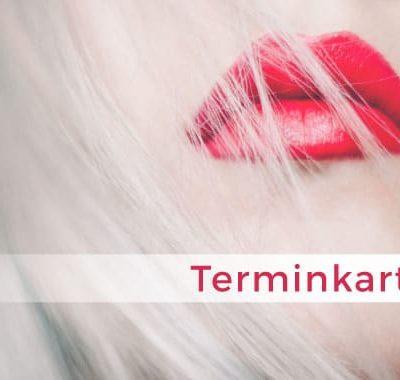 terminkarte kosmetik red lips