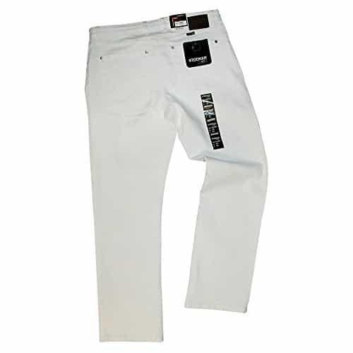 Stooker Herren Men Jeans Stretch rztehose Pflegedienst Zahnarzt Hose Mod Frisco Weiss 0 1