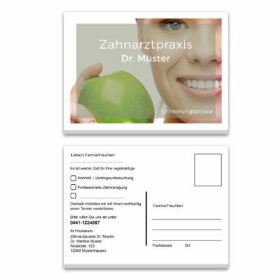 Recallkarte green smile